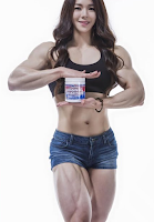 Top 5 The beautiful woman with muscles : 4 - Yeon Woo Jhi (Korea)