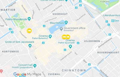 My Google Maps - Abwehr locations in The Hague related to Josef Jakobs and Karel Richter