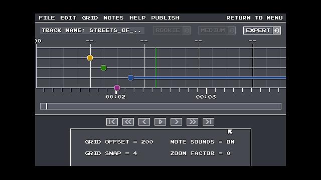 Screenshot from Chiptune Champion