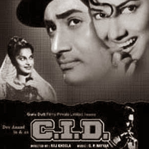 Poster Of Bollywood Movie C.I.D. (1956) 300MB Compressed Small Size Pc Movie Free Download worldfree4u.com
