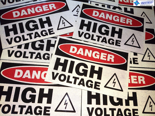 Danger: High Voltage - Reflective Signs
