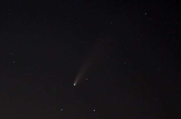 Another photo I took of comet NEOWISE from the city of Diamond Bar in California...on the night of July 18, 2020.