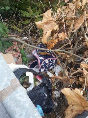 rifiuti nel quartiere Pagliarelli di Palermo, vicino al Canale Badame