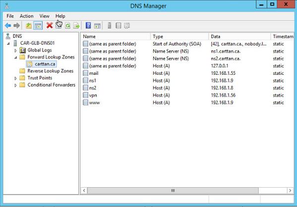 Figure 8: Step 8 of migrating a Linux BIND name server to a Windows Server DNS server.