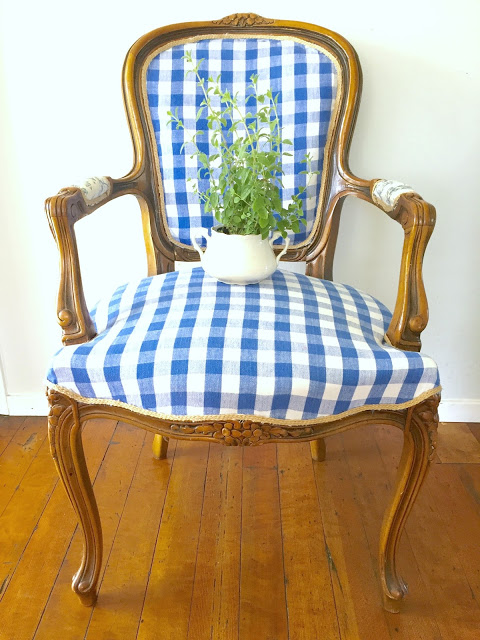 reupholstery, how to reupholster furniture, reupholstering furniture, refinished chair, chair makeover