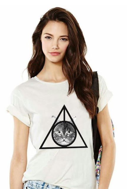 Deathly Hallows Cat Tee from Meowingtons