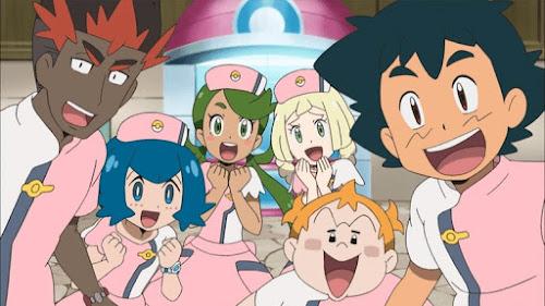Pokemon Sol y Luna Capitulo 68 Temporada 20 Experiencia laboral, centro Pokémon 24 horas