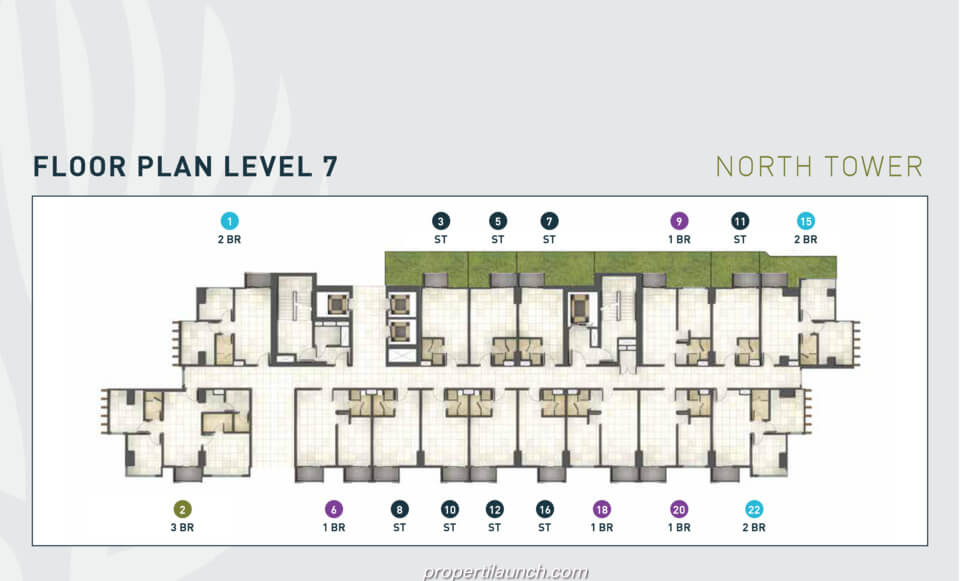 Floor Plan Apartment Cleon Park Lt 7