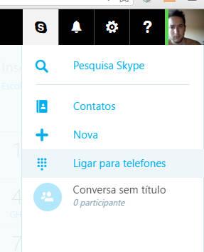 usar skype online para chamadas