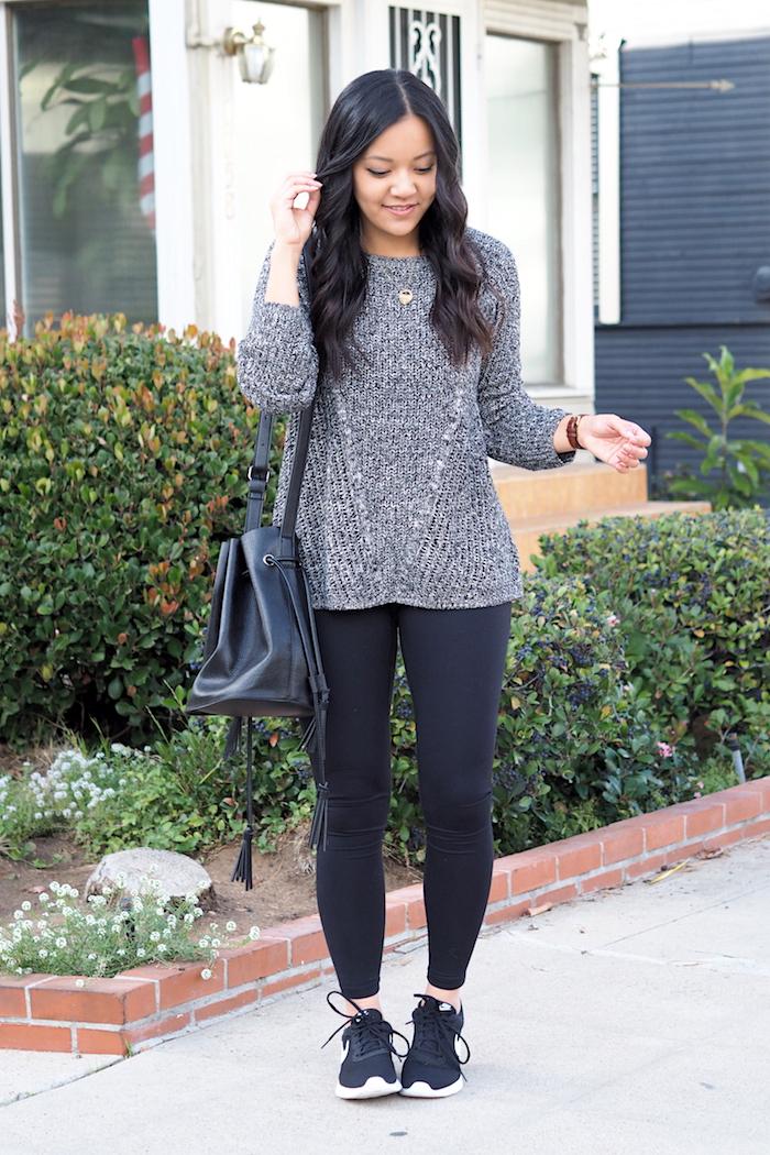Comfy Casual Outfit + Nike Tanjun Review | Putting Me Together | Bloglovinu2019