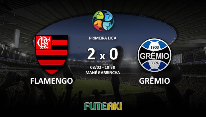Veja o resumo da partida com os gols e os melhores momentos de Flamengo 2x0 Grêmio pela Primeira Fase da Primeira Liga 2017.