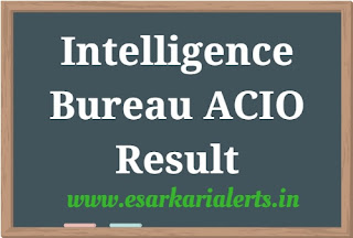 Intelligence Bureau ACIO Result 2017