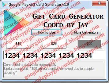 Most Noticeable Google Play Gift Card Codes Generator Android