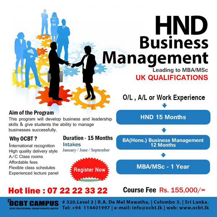 Study Business Management   September Intake Now On
