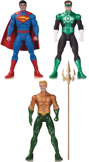 DC Comics Greg Capullo Batman Designer Series Wave 5 Action Figures - Superman, Green Lantern & Aquaman