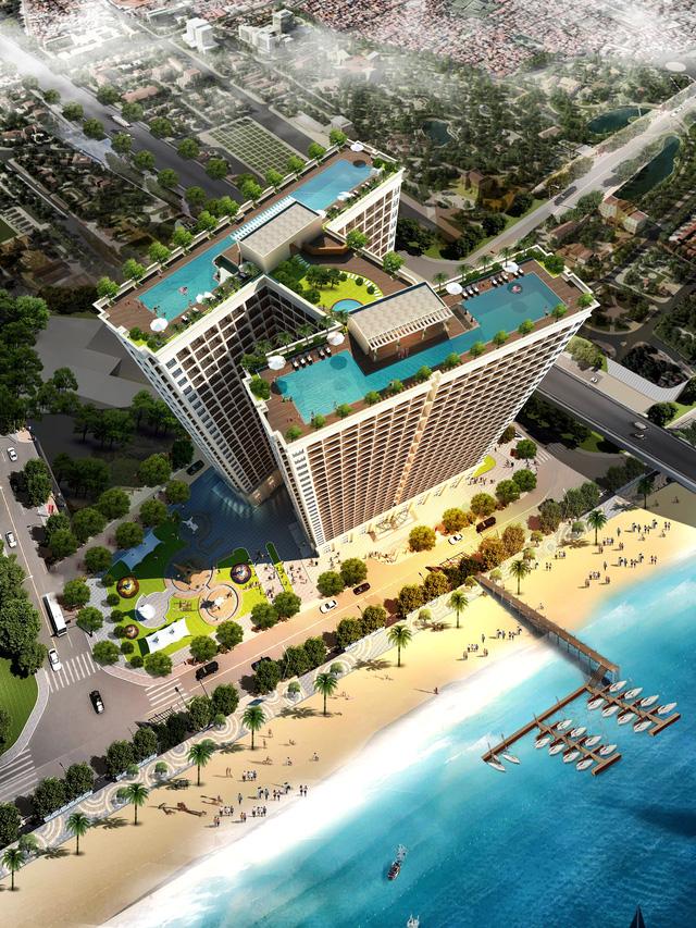 Phối cảnh tổng quan dự án Condotel Đà Nẵng