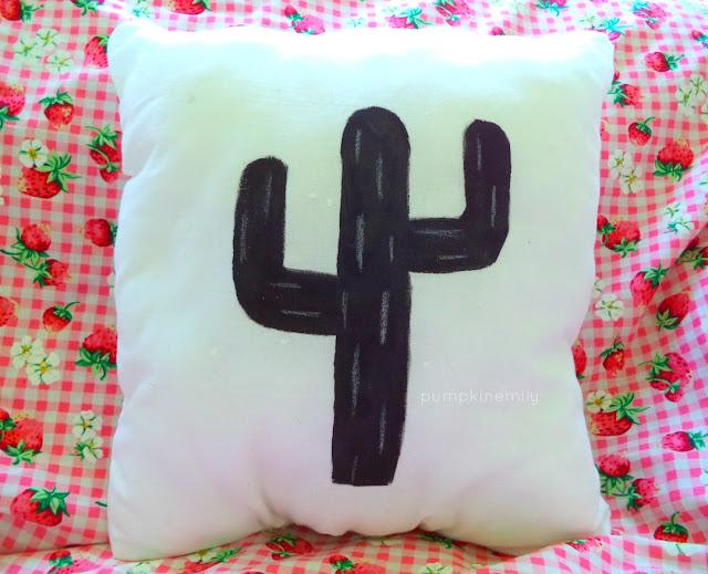 Cactus Silhouette Pillow