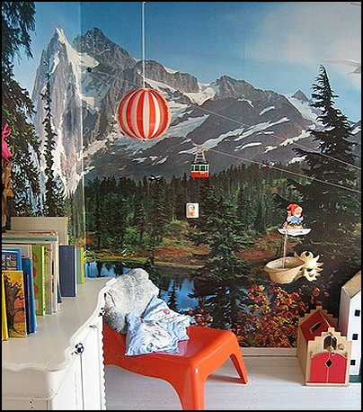 Ski cabin decorating - ski lodge decor - winter cabin decorating ski resort bedroom ideas - winter wall murals - ski chalet theme bedroom decorating ideas - modern rustic style winter cabin decor - Swiss alps decoration Alpine theme decorating - adventure bedroom design ideas - ski alps wall decal stickers - Swiss chalet ski lodge murals weather themed bedroom decorating