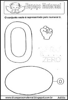 Desenho numeral 0 para colorir