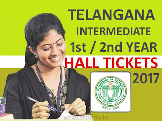 TS Inter 1st and 2nd year Hall Tickets 2017, Telangana Intermediate, TS Inter 2017