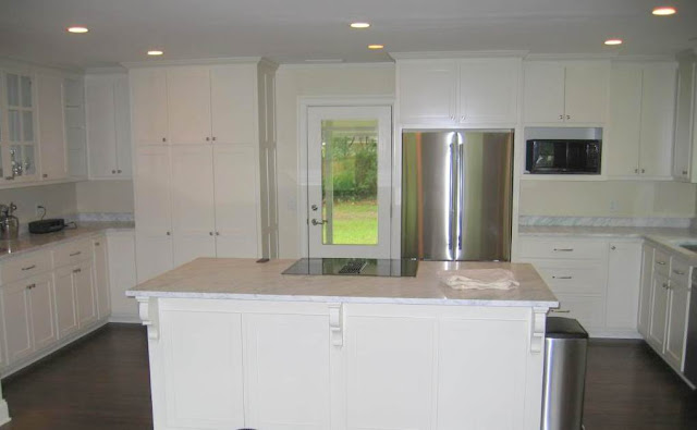 ranch kitchen remodel idea white cabinets
