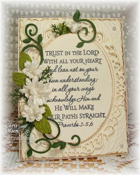 Our Daily Bread Designs, Scripture Collection 2, ODBD Fancy Foliage Dies, Chris Olsen