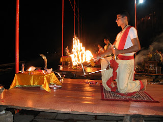 Aarti ceremony along the Ganga in Varanasi, India