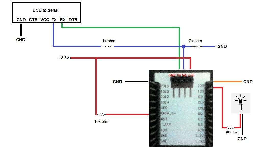 ESP8266 ESP201 : Blink LED remotely via Adafruit MQTT