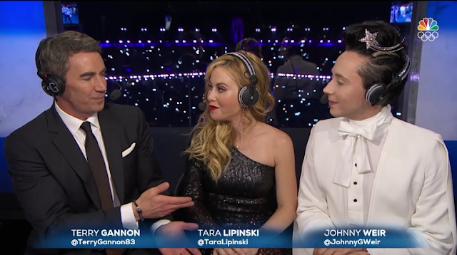 PyeongChang 2018 Winter Olympics Closing Ceremony NBC commentators TerryGannon Tara Lipinski Johnny Weir