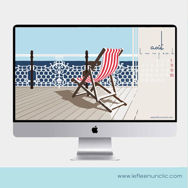 fond d'écran gratuit, calendrier 2018, août 2018, FLE, le FLE en un 'clic'