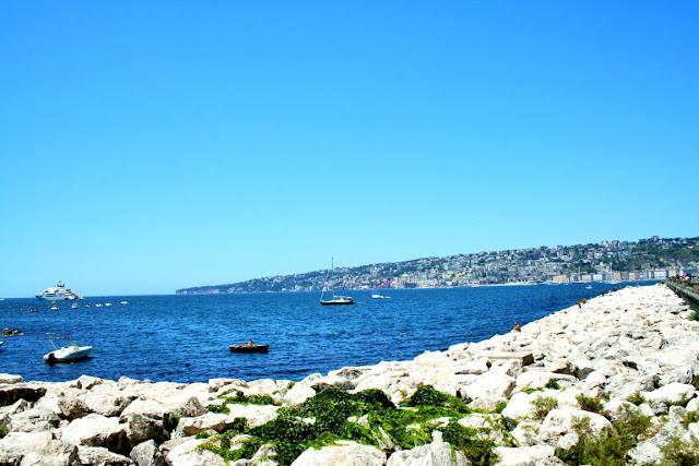 golfo, barche, mare, acqua, panorama Napoli