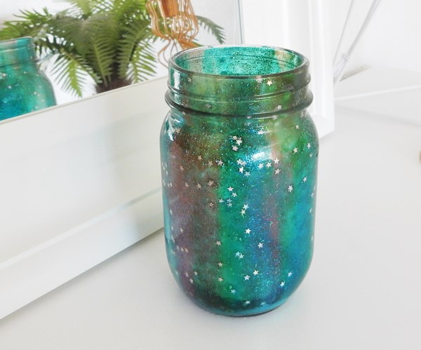 Mason jar galaxie