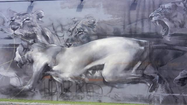 Lion streetart