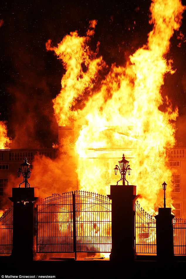 Buckingham Palace On Fire