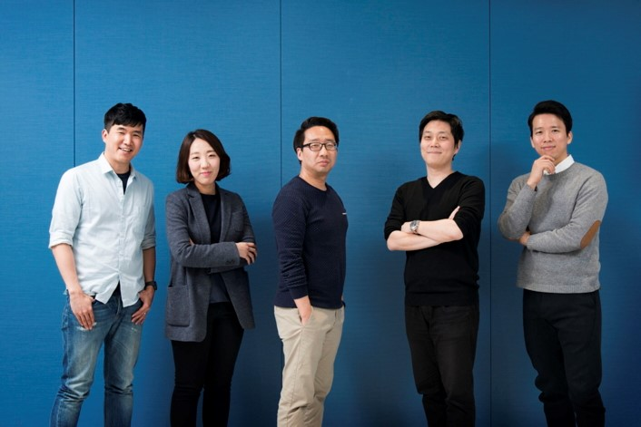 (from left to right) Jonghyun Han, Jieun Yang, Sangdeuk Nam, Sukjae Lee, Donggyu Lim