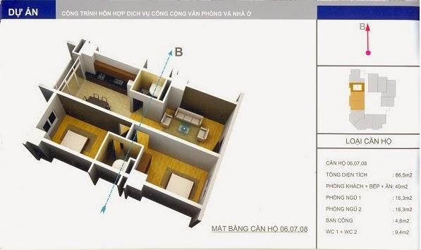 thiết kế mẫu căn số 8 chung cư 34 Cầu Diễn