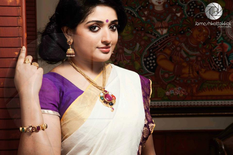 Kavya Madhavan Actress Photo Gallery: Mallu Actress Kavya Madhavan Sexy Photos In Saree