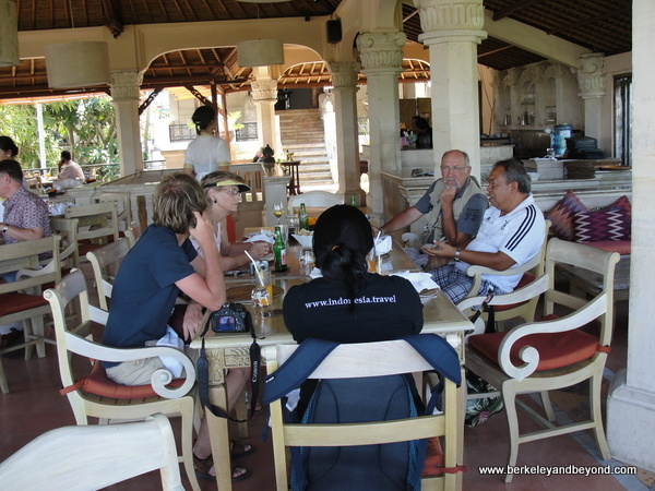 dining room at Indus restaurant in Ubud, Bali, Indonesia