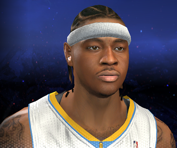 NBA 2K14 Carmelo Anthony Cyberface (Braids Hair)