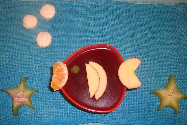 Comida divertida peixinhos de gelatina
