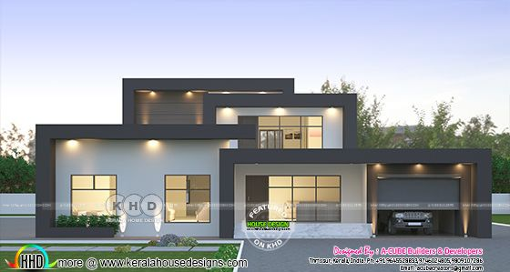2423 sq-ft box model contemporary house
