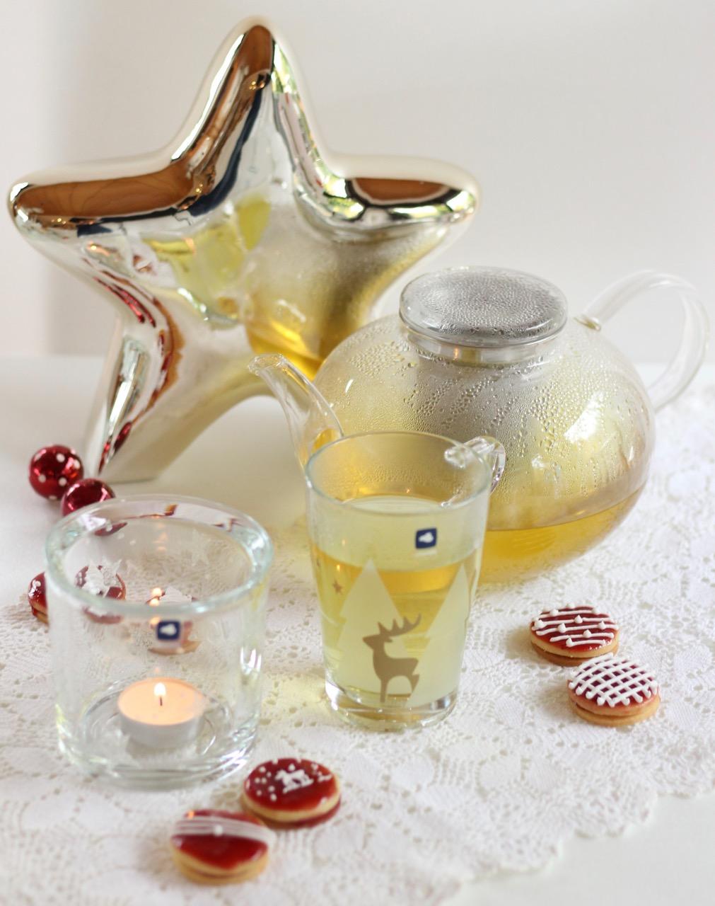 Leonardo Teekanne Moon und Teeglas mit Hirsch