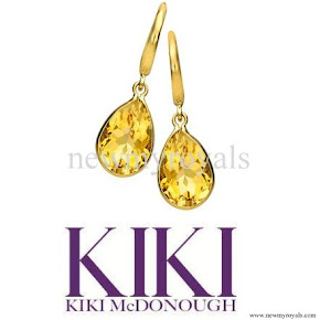 Kate Middleton jewellry Kiki McDonough Citrine Pear Drop Earrings