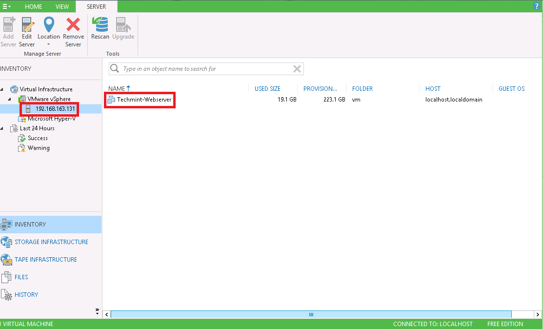 How to Add ESXi Server in Veeam Backup and Replication
