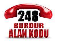 0248 Burdur telefon alan kodu