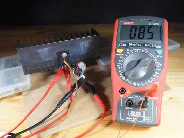 Температура радиатора поднятого над поверхностью