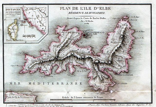 Principato dell'Elba di napoleone Bonaparte - J.B. Tardieu. opera rilasciata nel Pubblico Dominio