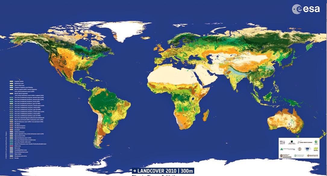 Cartina Satellitare Mondo.Reportages La Piu Recente Mappa Satellitare Globale Della Terra Chi Ha Il Verde E Chi No