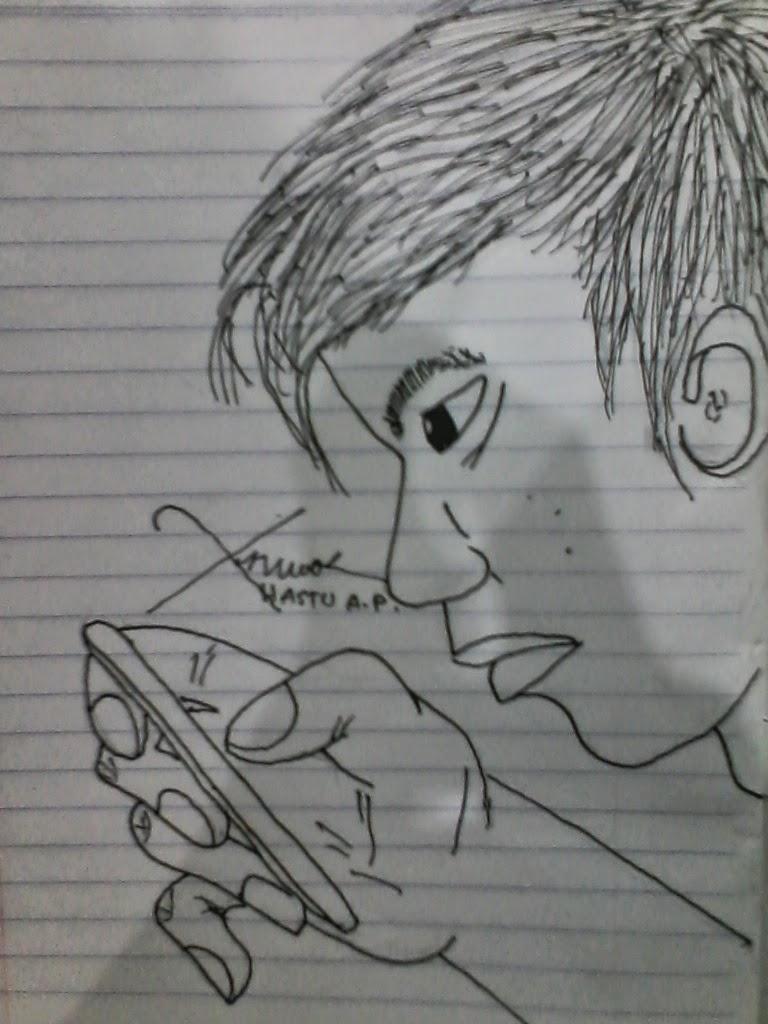 Gambar Sketsa Wajah Dari Samping