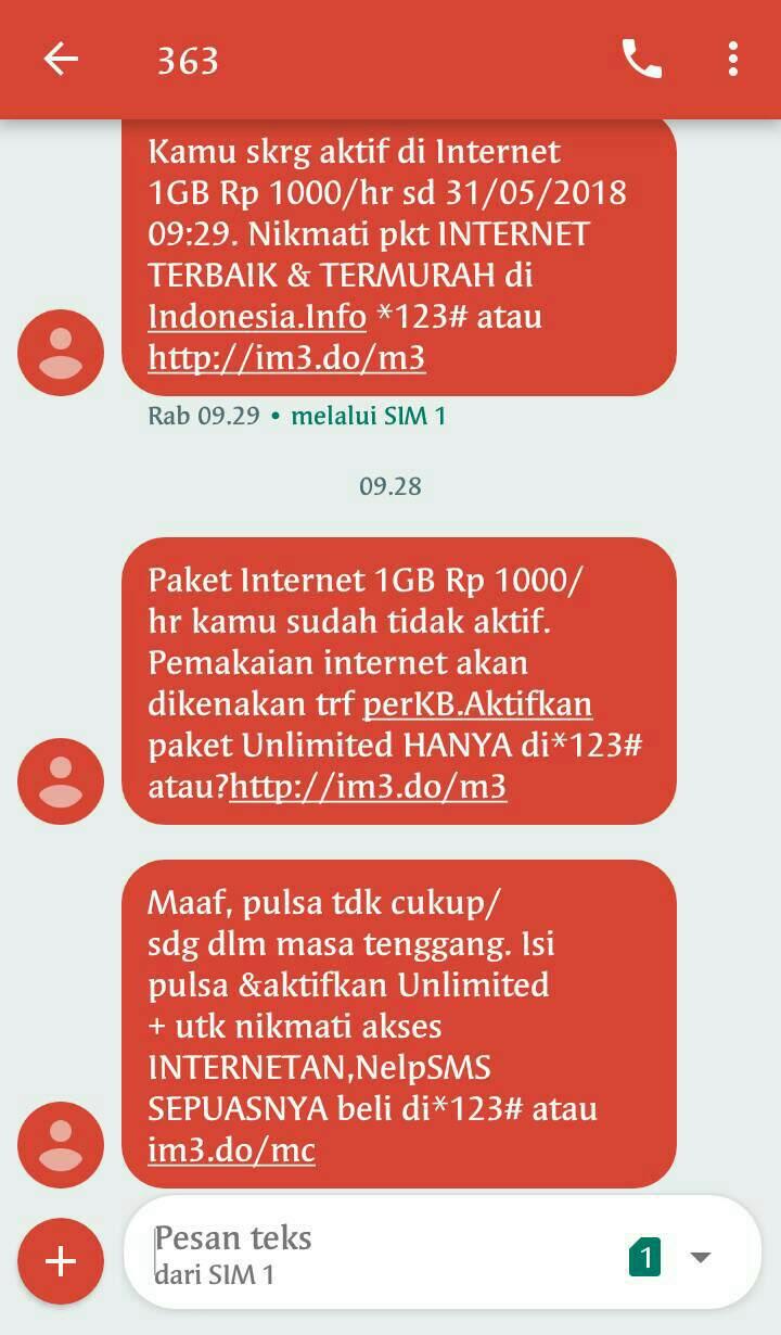 Berbagi Pengalaman Menggunakan Paket Yellow Indosat Coretanbunda Kuota Im3 Sisa Sebelum Data Seluler Saya Off Kan